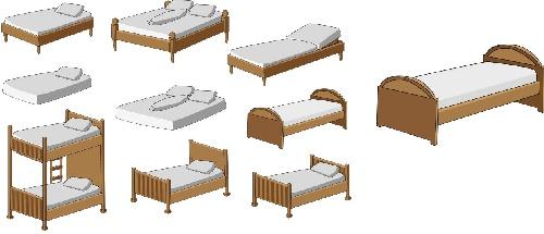 وکتور تخت-وکتور تخت خواب-فایل کورل